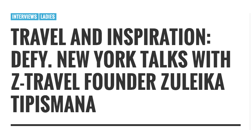 DeFY. New York talks to a fellow NewYorker